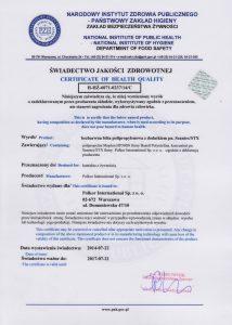 SEANTEX - Swiadectwo Dopuszczenia PZH _